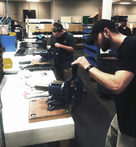 manufacturing guns
